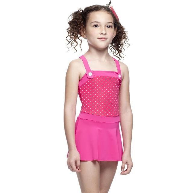 【好物推薦】MOMO購物網【SARBIS】MIT女童連身裙泳裝(附泳帽B88411)評價momo購