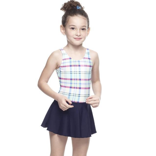 【SARBIS】MIT女童連身富邦購物台裙泳裝(附泳帽B88422)