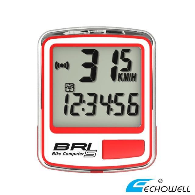 【網購】MOMO購物網【ECHOWELL】BRI-5 多功能自行車有線碼錶(紅)評價好嗎富邦momo百貨