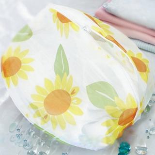【UdiLife】花漾細網洗衣袋丸型-35cm-12入組