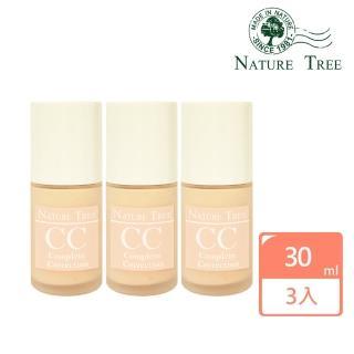 【Nature Tree】白皙無瑕柔光輕透CC霜3入組(加贈10mlCC霜)