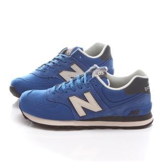 【NewBalance】男款 經典復古運動鞋(ML574PCB-藍)