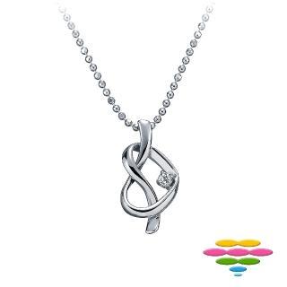 【彩糖鑽工坊】永結同心系列 鑽石項鍊(CL-PD61)