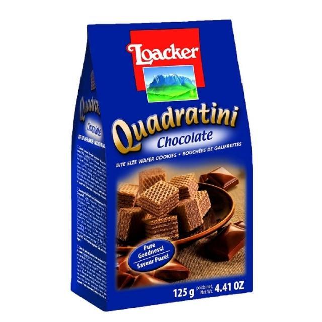 【萊佳】萊佳方角哈斯餅 巧克力125g