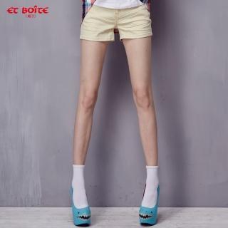 【ibs】花漾繽紛短褲(藍底白星)