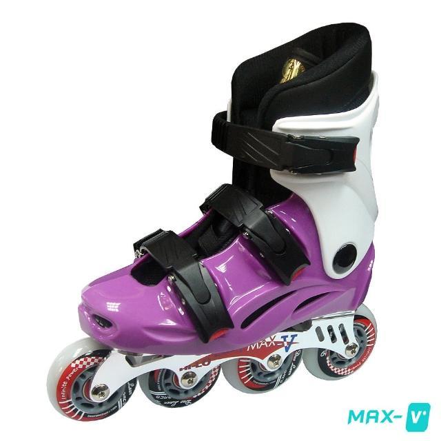 【momo購物門市V-MAX】鋁合金直排輪(紫白)