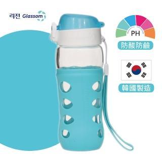 【韓國 GLASSOM】韓國/pop玻璃水瓶/水壺/耐酸耐熱/水杯/450ml/防漏(共8色)