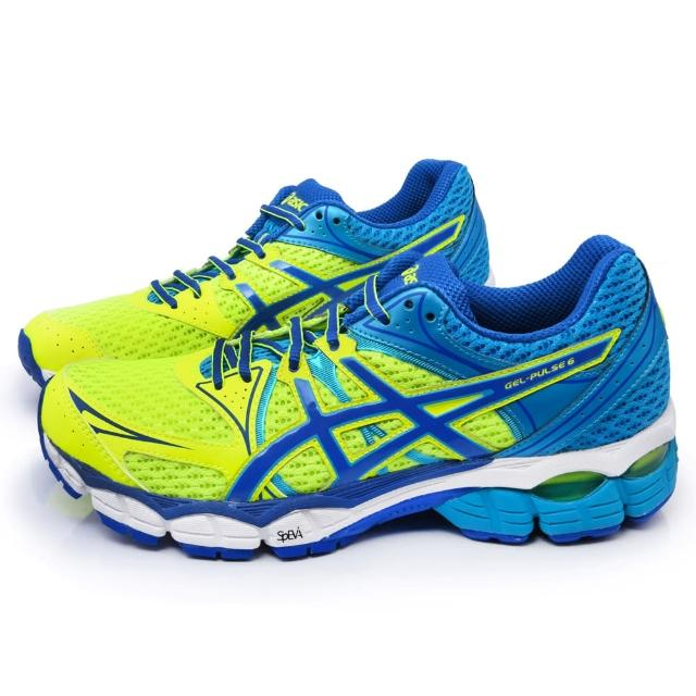 【勸敗】MOMO購物網【Asics】男款GEL-PULSE 6 高緩衝慢跑鞋(T4A3N-0751-黃藍)評價如何富邦momo電視購物台