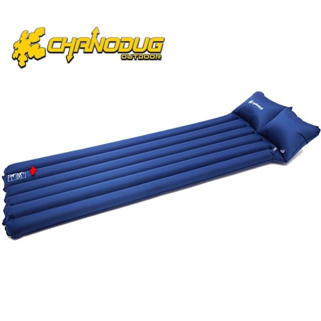 【真心勸敗】MOMO購物網【韓國CHANODUG】單人水路兩用充氣睡墊(深藍色)好用嗎momo富邦