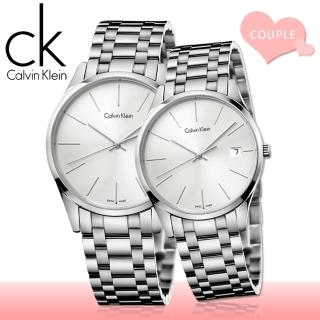 【瑞士 CK手錶 Calvin Klein】甜蜜浪漫情侶對錶(K4N21146+K4N23146)