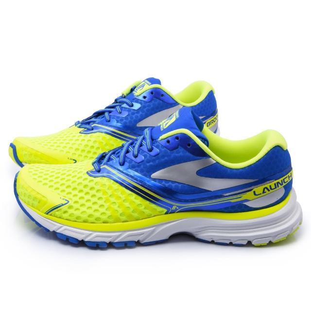 【真心勸敗】MOMO購物網【BROOKS】男款 Launch 2 避震型跑鞋(BK1101881D702-黃藍)價格富邦網路購物