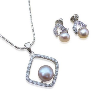 【小樂珠寶】熱賣第一名款-超美3A天然珍珠套組