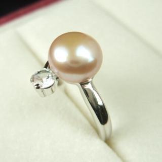 【小樂珠寶】頂級天然珍珠戒指(經典英倫風範款)