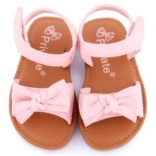 【童鞋城堡】二等兵 小童 簡約立體蝴蝶結涼鞋(5103-粉)
