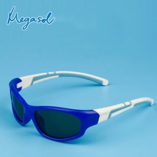 【MEGASOL】寶麗萊兒童UV400偏光太陽眼鏡(TR90耐折系列-MS1306Y-黃色)
