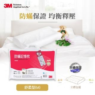 【3M】淨呼吸防蹣記憶枕(舒柔型M尺寸)