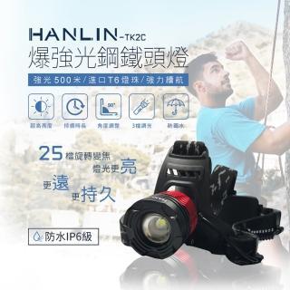 【勸敗】MOMO購物網【HANLIN-TK2C】爆強光鋼鐵頭燈25檔旋轉變焦(長射程防水IPX6級)評價momo電視