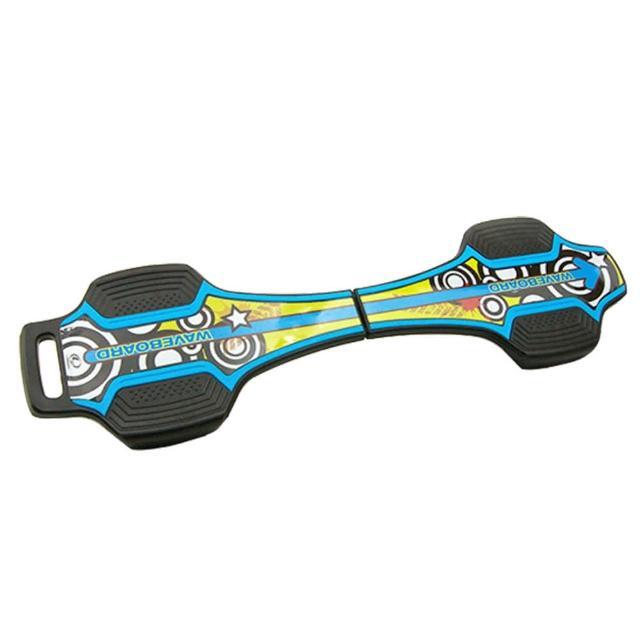 【真心勸敗】MOMO購物網【韓國 LANDWAY】發光輪活力蛇板 蛇行滑板 BL(藍黃)價錢momo網路客服電話