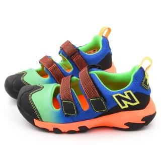 【NewBalance】中童 護趾運動涼鞋(KD555FGP-綠藍)