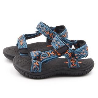 【TEVA】中童 經典織帶機能運動款涼鞋(TV110005COLDB-藍)