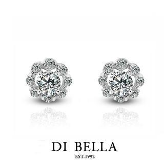 【DI BELLA】迷漾 0.30克拉天然美鑽耳環(針式)