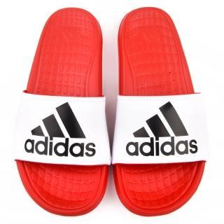 【Adidas】男女款 Voloomix M 拖鞋(B36051-紅)