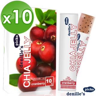 【denille's picks】奇亞籽膠原蛋白凍-蔓越莓膠原蛋白 日文(10盒共100支)