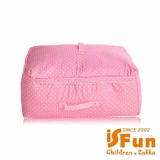 【iSFun】快速到貨-粉點蕾絲*舖棉衣物棉被袋/中號