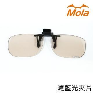 【MOLA】近視/老花眼鏡族可戴-摩拉前掛可掀夾式抗藍光眼鏡鏡片
