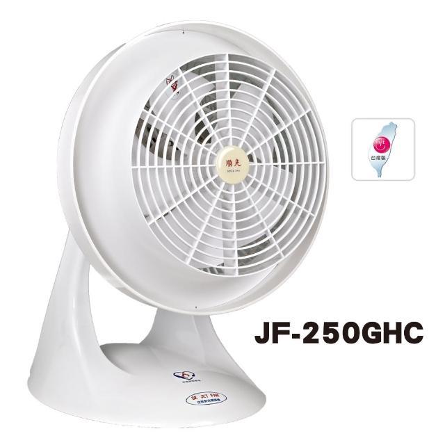【順光10吋momo電視購物客服電話噴流循環扇】JF-250GHC(白)