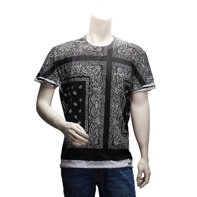 【DOLCE & GABBANA】印花短袖T恤(藍大後背包推薦色G8K48G-G7LG5)