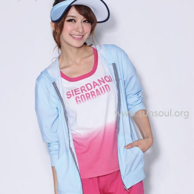 【SUNSOUL】光能長袖連帽運動外套-M/L/XLmomo二台(藍光)