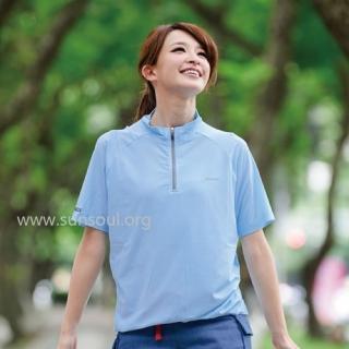 【SUNSOUL】光能短袖運動車衣-L(藍光)
