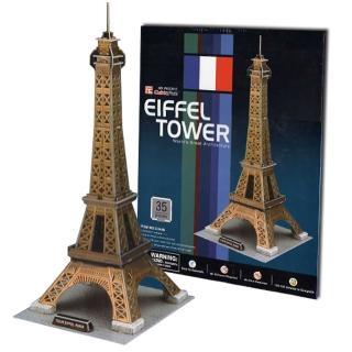 【Cubic Fun 智慧3D立體拼圖】巴黎-艾菲爾鐵塔(35片)