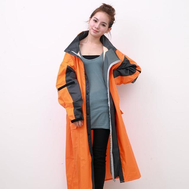 【好物推薦】MOMO購物網【OutPerform雨衣】勁馳率性連身式風雨衣-橘/灰(機車雨衣、戶外雨衣)心得富邦momo旅遊網