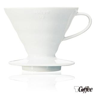 【TCoffee】HARIO-V60 白色02磁石濾杯