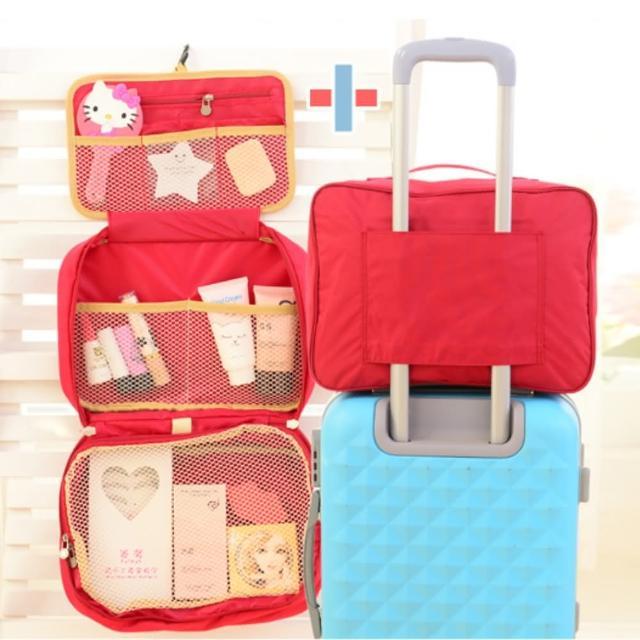 【好物推薦】MOMO購物網【Bunny】完美大容量創意旅行行李袋盥洗包套裝組(拉桿收納包+三折盥洗包)價格momo購物網 退貨