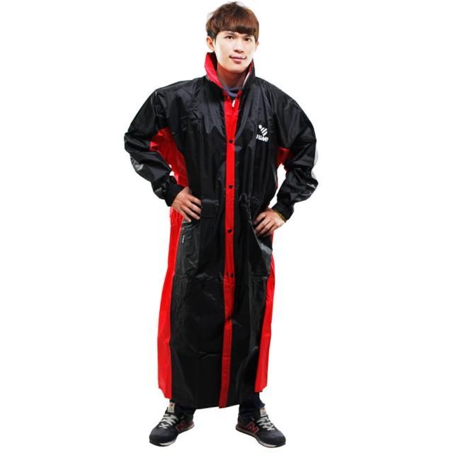 【網購】MOMO購物網【JUMP】新二代 新帥前開式休閒風雨衣-黑紅評價momo 購物 momo 購物台