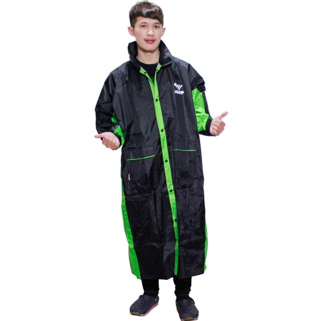 【JUMP】新二代 新帥折價券 momo前開式休閒風雨衣-黑綠