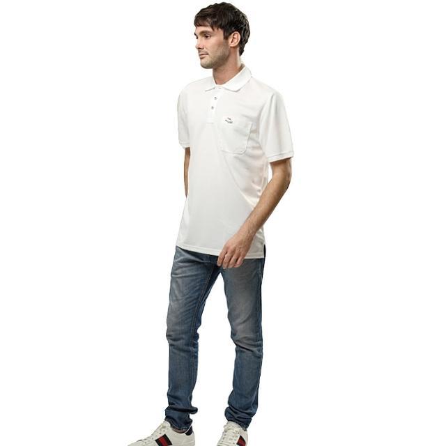 【pmomo電視購物網er GIBO】吸溼排汗男版短POLO衫-米白(PT132611)