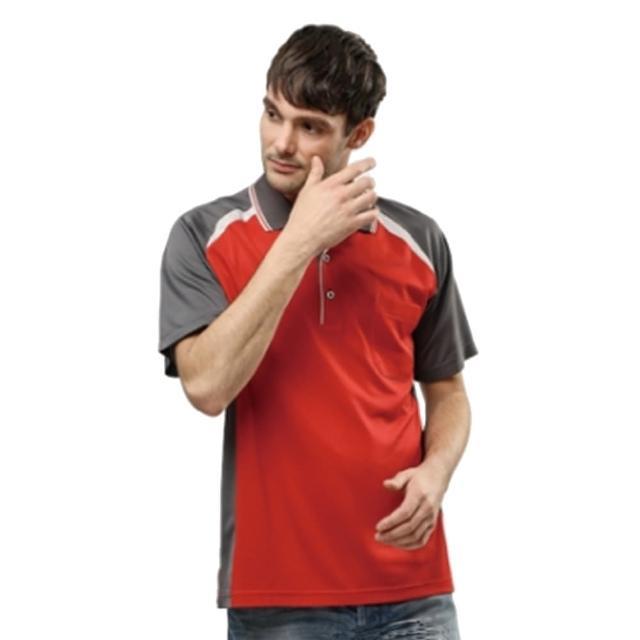 【開箱心得分享】MOMO購物網【per GIBO】吸溼排汗男版短POLO衫-紅˙深灰(PT112302)推薦momo拍賣