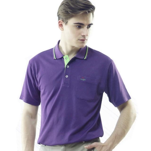 【per GIBO】吸溼排汗男版短POLO衫-紫(momo 購物 0800PT121902)