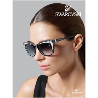 【SWAROVSKI】時尚廣告款 太陽眼鏡(白色)