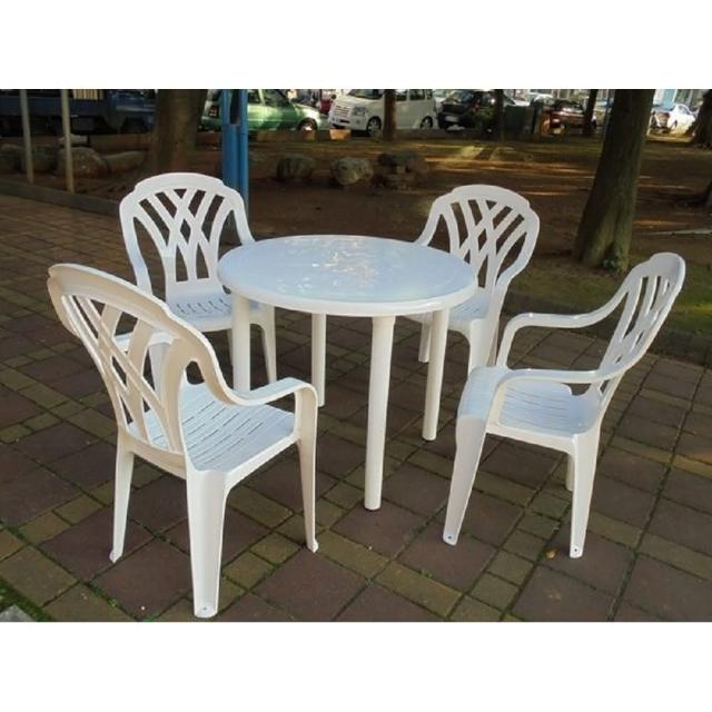 【勸敗】MOMO購物網【BROTHER 兄弟牌】塑膠格網高背椅+90cm塑膠圓桌一桌四椅組(BROTHER 兄弟牌)效果momo線上購物