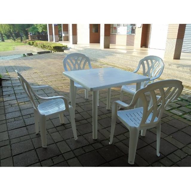 【私心大推】MOMO購物網【BROTHER 兄弟牌】塑膠格網高背椅+90cm塑膠方桌一桌四椅組(BROTHER 兄弟牌)效果如何momo 購物 momo 購物台