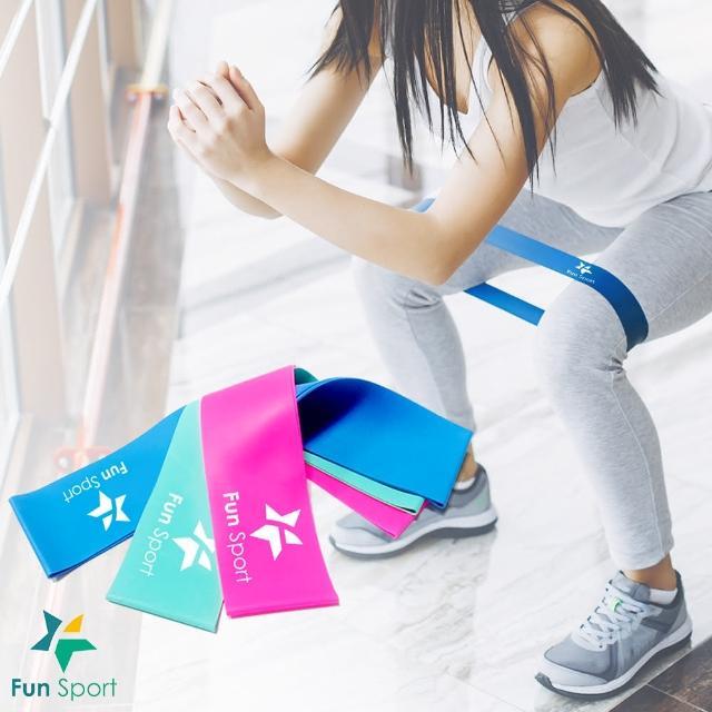 【F富邦購物台電話un Sport】樂訓環彈力拉帶-MINI BANDS(3種力道組合)