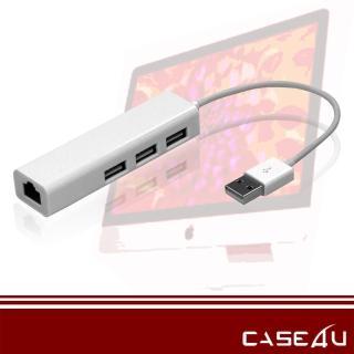 【CASE4U】Mac 轉接線(USB2.0 高速傳輸網路線 與USB三孔)