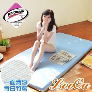 【LooCa】吸濕排汗5cm透氣兩用輕便式床墊-雙人(共2色)