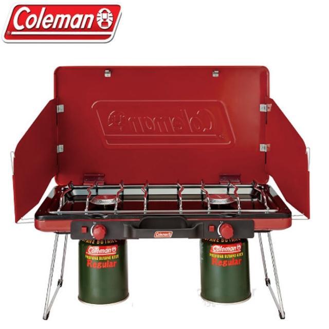 【勸敗】MOMO購物網【美國Coleman】7000kcal輕薄雙口瓦斯爐(CM-21950 紅)好嗎momo折價券使用