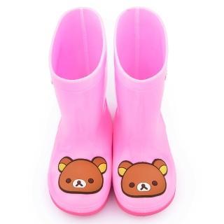 【童鞋城堡】拉拉熊 中童 甜美雙色底雨鞋(KM82004-粉)